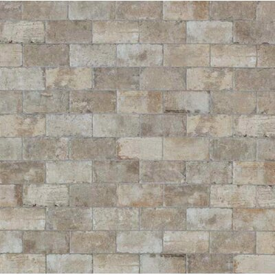 "Chicago Brick 8"" x 16"" Porcelain Mosaic Tile in South Side"