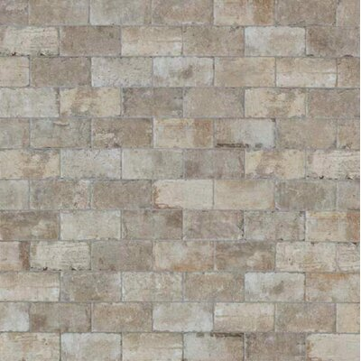 "Chicago Brick 4"" x 8"" Porcelain Mosaic Tile in South Side"