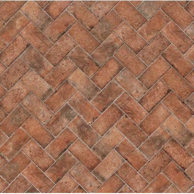 "Chicago Brick 4"" x 8"" Porcelain Mosaic Tile in Wrigley"