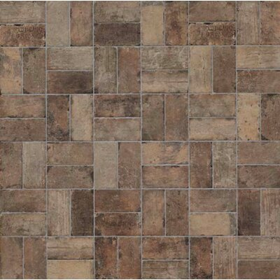 "Chicago Brick 4"" x 8"" Porcelain Mosaic Tile in State Street"
