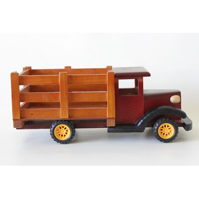 Truck Wood Statue Planter