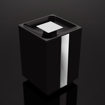 "One Trash Can Size: 10.38"" H x 6.5"" W x 6.5"" D, Color: White"