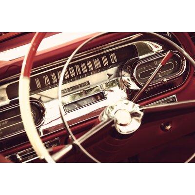 ArtAndPleasure UK Steering Wheel Red Photographic Print Plaque