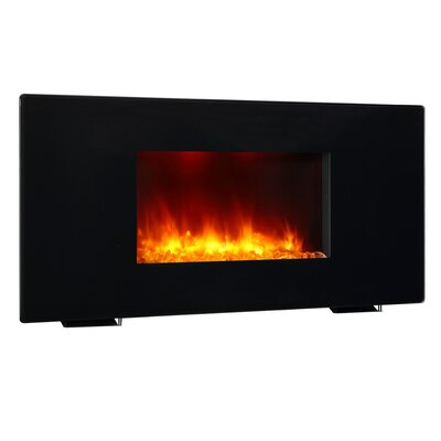 Black 1350W Galena Wall Mounted Electric Fireplace