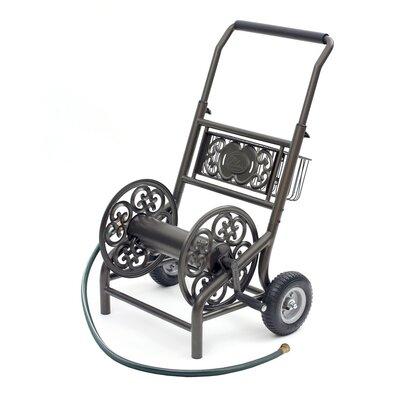 American garden decor - Steel Hose Reel Cart - Liberty Products Hose Reels