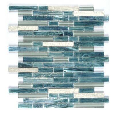 Ice Honey Berries Random Sized Glass Mosaic Tile in Blue/White
