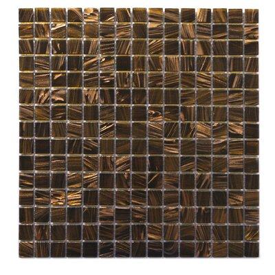 "Venus 0.63"" x 0.63"" Glass Mosaic Tile in Brown Neon"