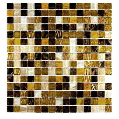 "Venus 0.63"" x 0.63"" Glass Mosaic Tile in Sweet Honey"