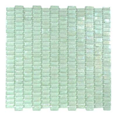 "Classic Recycled 12.81"" x 12.31"" Glass Mosaic Tile in Glazed Iceberq"