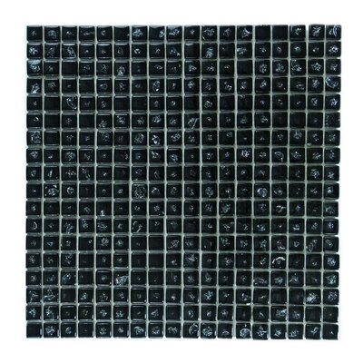 """Ice Age 1"""" x 1"""" Glass Mosaic Tile in Black Ice"""