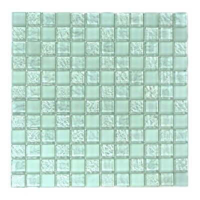 """Ice Age 1"""" x 1"""" Glass Mosaic Tile in Freeze"""