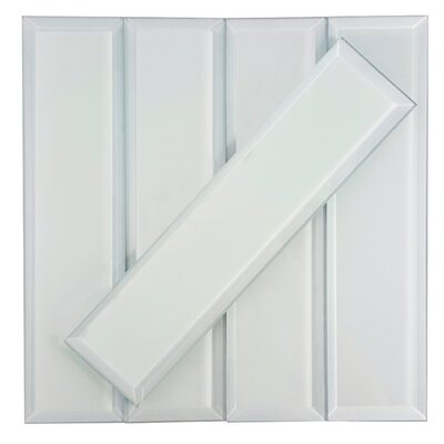 """Frosted Elegance 3"""" x 12"""" Glass Subway Tile in Matte Gray"""