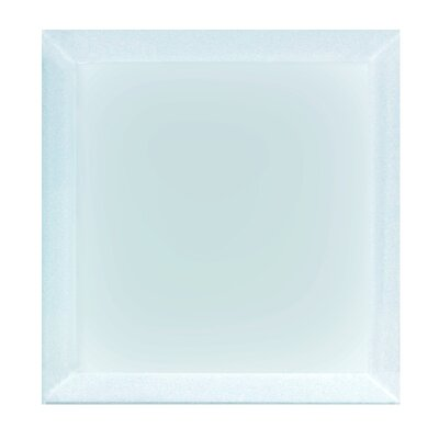 "Frosted Elegance 8"" x 8"" Glass Field Tile in Matte Blue"