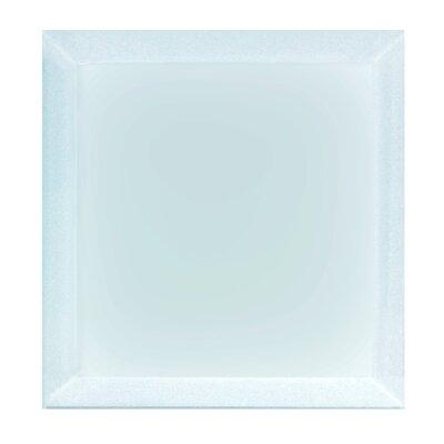 "Frosted Elegance 8"" x 8"" Glass Field Tile in Matte Blue"