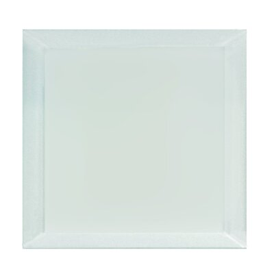 "Frosted Elegance 8"" x 8"" Glass Field Tile in Matte Arctic"