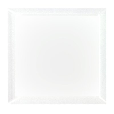 "Frosted Elegance 8"" x 8"" Glass Field Tile in Matte White"
