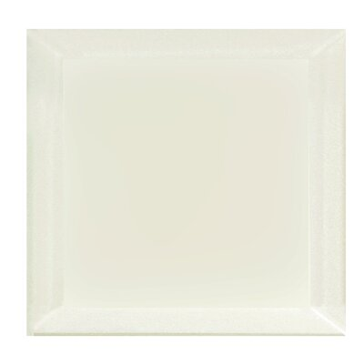 "Frosted Elegance 8"" x 8"" Glass Field Tile in Matte Cream"