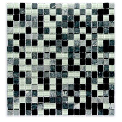 "Crystal Stone 0.63"" x 0.63"" Glass Mosaic Tile in Glazed Dreamer"