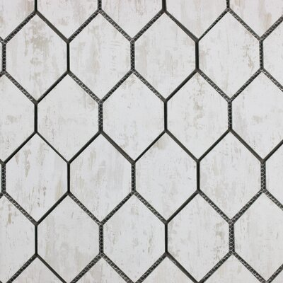 "Nature Honeycomb 3"" x 5"" Glass Subway Tile in Tan/Gray"