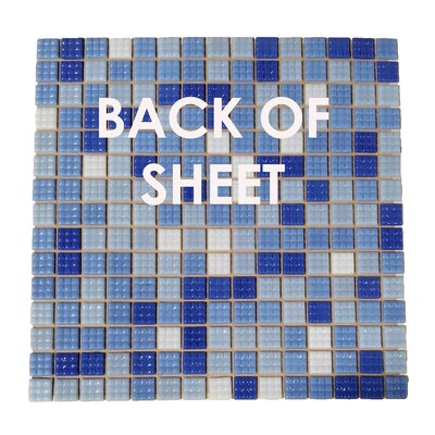 """Swimming Pool 0.63"""" x 0.63"""" Glass Mosaic Tile in Blizzard Blue"""