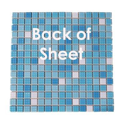 """Swimming Pool 0.63"""" x 0.63"""" Glass Mosaic Tile in Eton Blue"""
