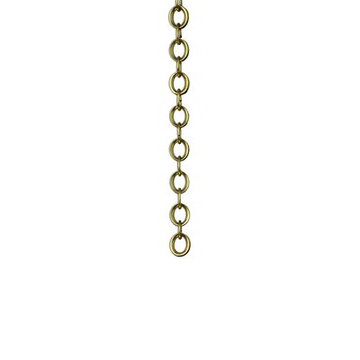 Round Un-Welded Link Solid Brass Chain Finish: Acid Dipped