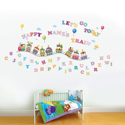 Walplus Paper Art with Circus Alphabets and Numbers Wall Sticker