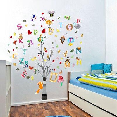 Walplus Children's Nursery Alphabet, Animal and Tree Wall Sticker