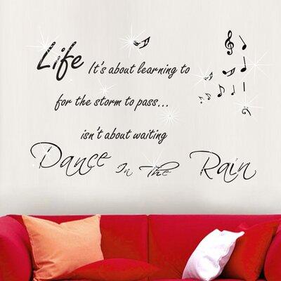 Walplus Swarovski with Quote Dance in Rain Wall Sticker