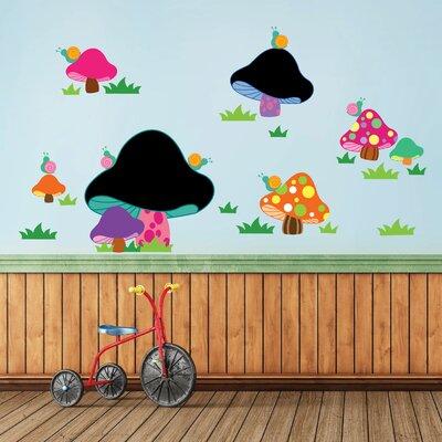 Walplus Blackboard Mushroom Shaped Wall Sticker