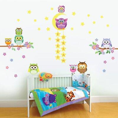 Walplus Owl, Tree and Star Nursery Wall Sticker