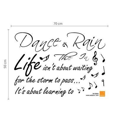 Walplus Dance In The Rain Music Quote Wall Sticker