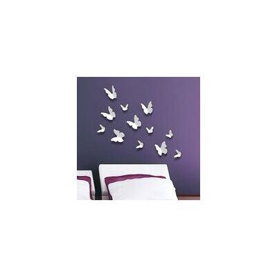 Walplus White 3D Butterflies Wall Sticker