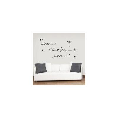 Walplus Live Laugh Love Quote Wall Sticker