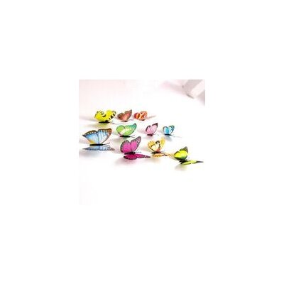 Walplus 3D Colourful Butterflies Shine Effect with Magnet Wall Sticker