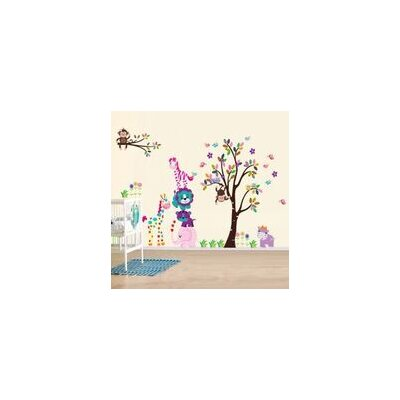 Walplus Happy Animals Children's Wall Sticker
