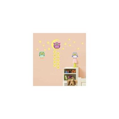 Walplus Owl, Tree and Star Wall Sticker