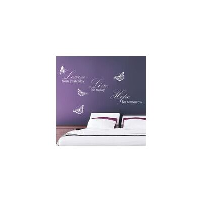 Walplus White Learn Live Hope Quote Wall Sticker