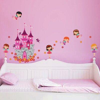 Walplus Angels Castle Princess Wall Sticker