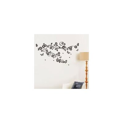 Walplus Black Flower Vine Wall Sticker