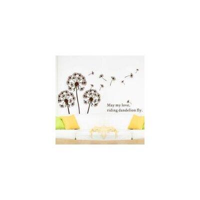 Walplus Brown Dandelion with Brown Petals Wall Sticker