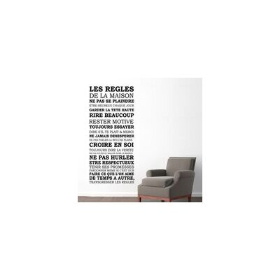 Walplus French House Rule Quote Wall Sticker