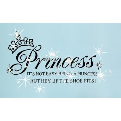 Walplus Swarovski Princess Quote Wall Sticker