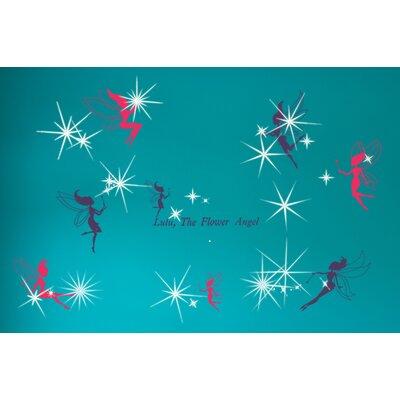 Walplus Swarovski with Colourful Fairies for Nursery Kids Room Wall Sticker