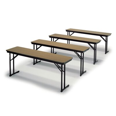 "Training Table Tabletop Finish: Black, Size: 30"" H x 24"" W x 60"" D"