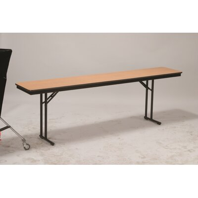 "Training Table Size: 30"" H x 18"" W x 96"" D, Tabletop Finish: Bannister Oak"
