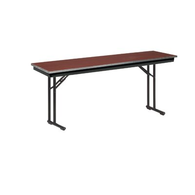 "Training Table Tabletop Finish: Black, Size: 30"" H x 18"" W x 72"" D"