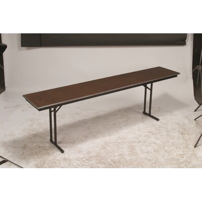 "Training Table Tabletop Finish: Black, Size: 30"" H x 18"" W x 96"" D"