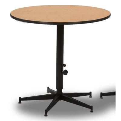 """3 Piece Pub Table Set Top Color: Walnut, Size: 36"""" H x 30"""" W x 30"""" D"""