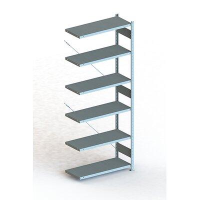 """CLIP S3 V150 Six Shelf Shelving Unit Add-on (Set of 2) Size: 98"""" H x 39"""" W x 16"""" D"""